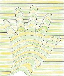 手の3Dアート